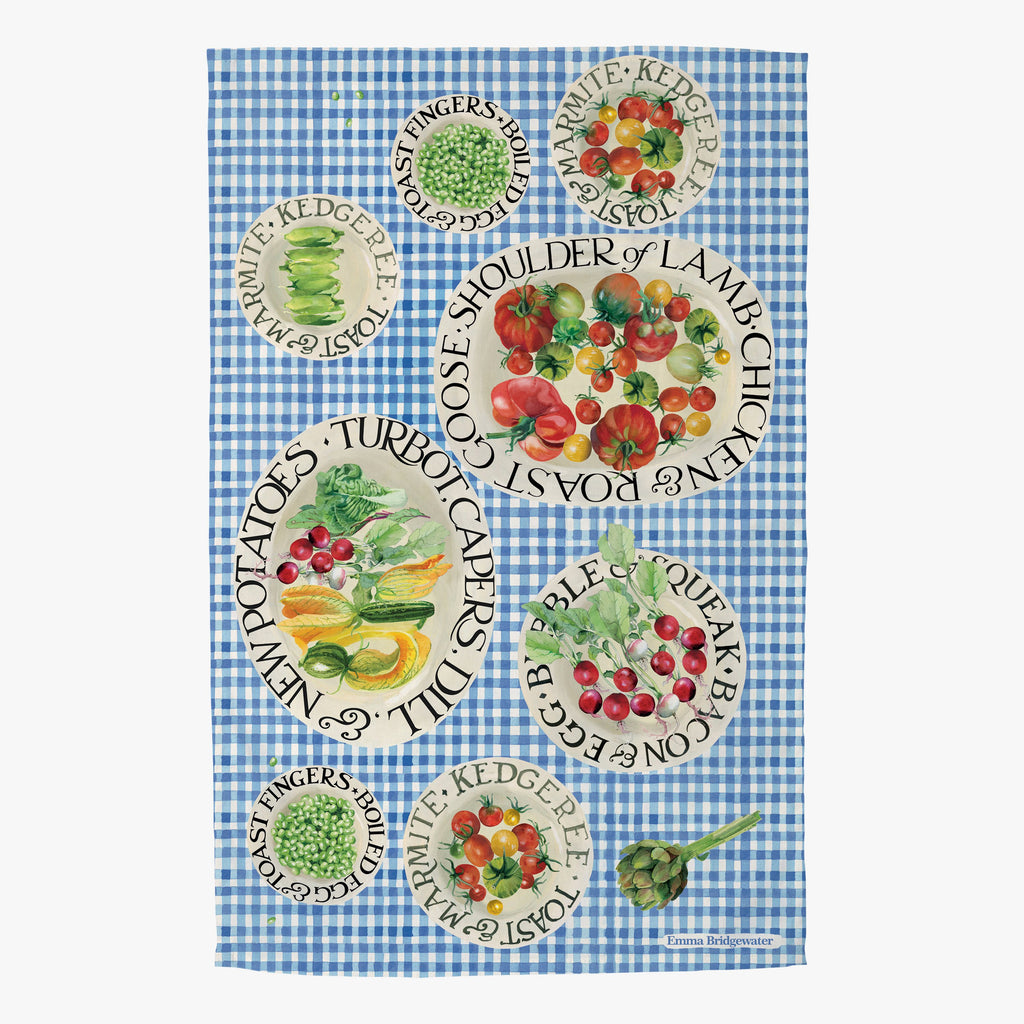 Black Toast Picnic Tea Towel