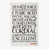 Black Toast Perfect Cordial Tea Towel