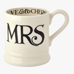 Seconds Black Toast Mrs 1/2 Pint Mug