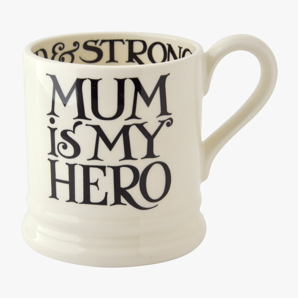Seconds Black Toast Mum is my Hero 1/2 Pint Mug