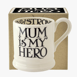 Black Toast Mum is My Hero 1/2 Pint Mug Boxed