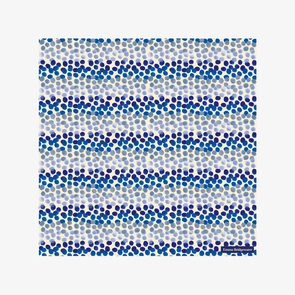 Blue Rainbow Dots Lunch Napkins