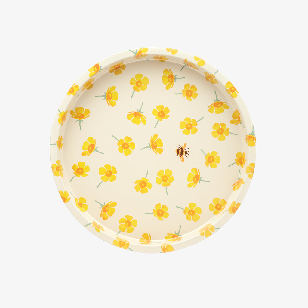 Buttercup Round Tin Tray