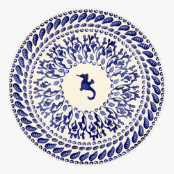 Blue Shells Serving Plate