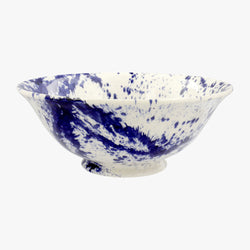 Blue Splatter Medium Serving Bowl