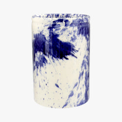 Blue Splatter Medium Vase