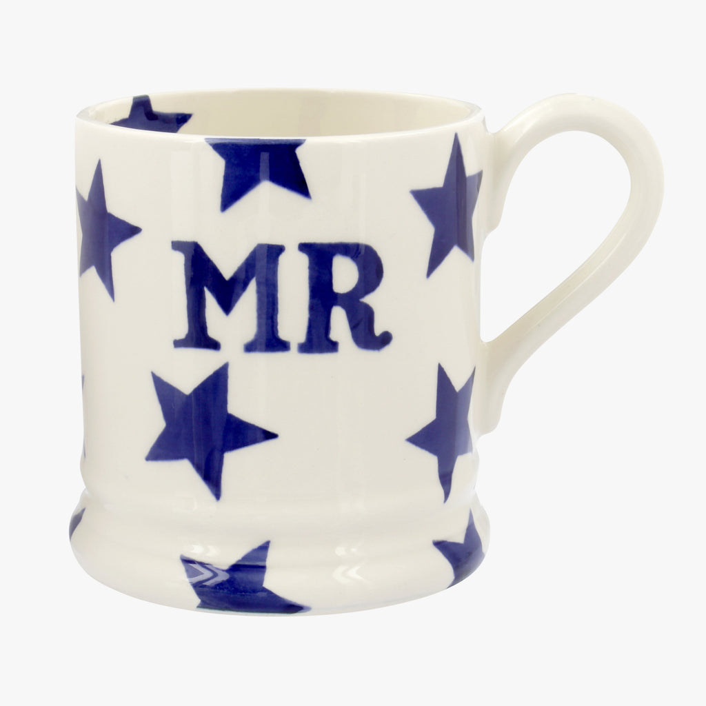 Seconds Blue Star Mr 1/2 Pint Mug