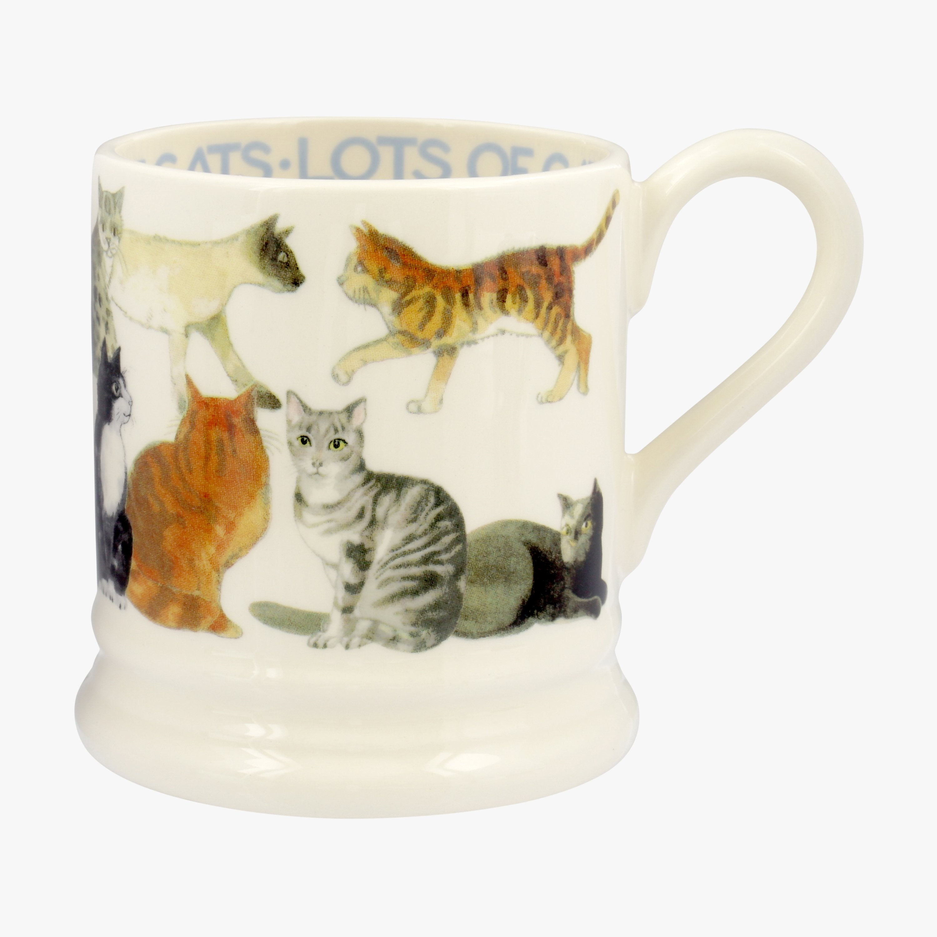 Image of All Over Cat 1/2 Pint Mug