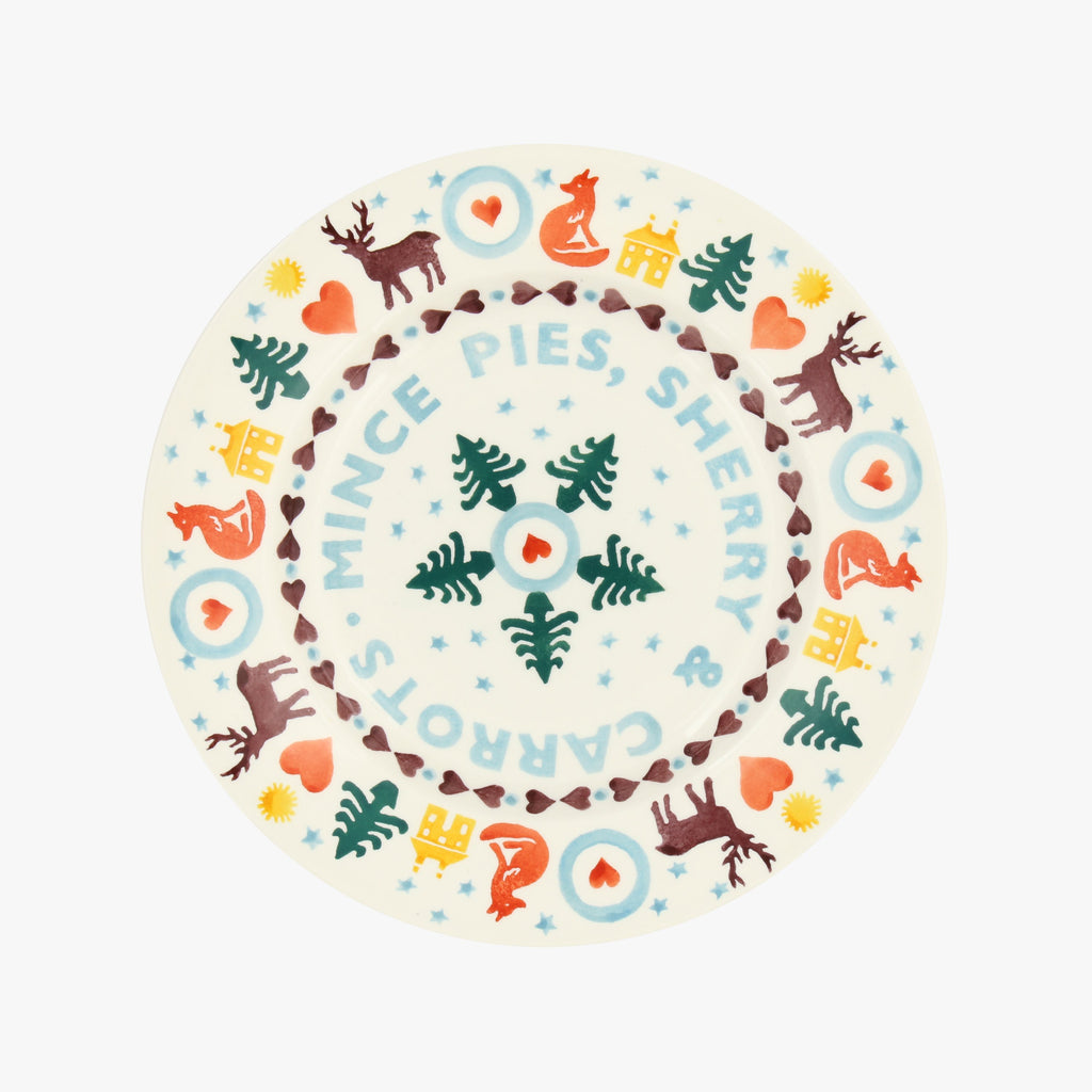 "Seconds Christmas Brights 'Mince Pies' 8 1/2"" Plate"