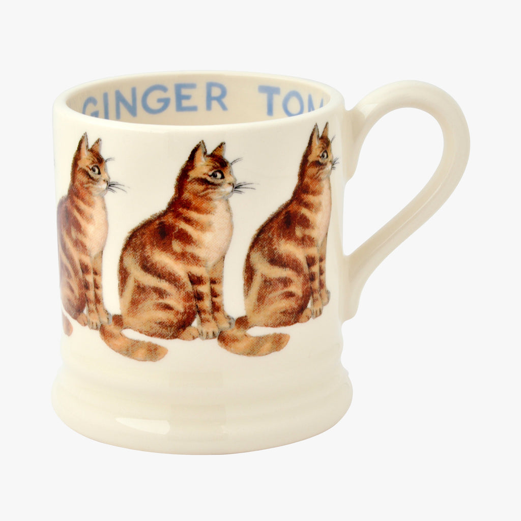 Cats Ginger Tom 1/2 Pint Mug