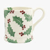 Christmas Holly 1/2 Pint Mug