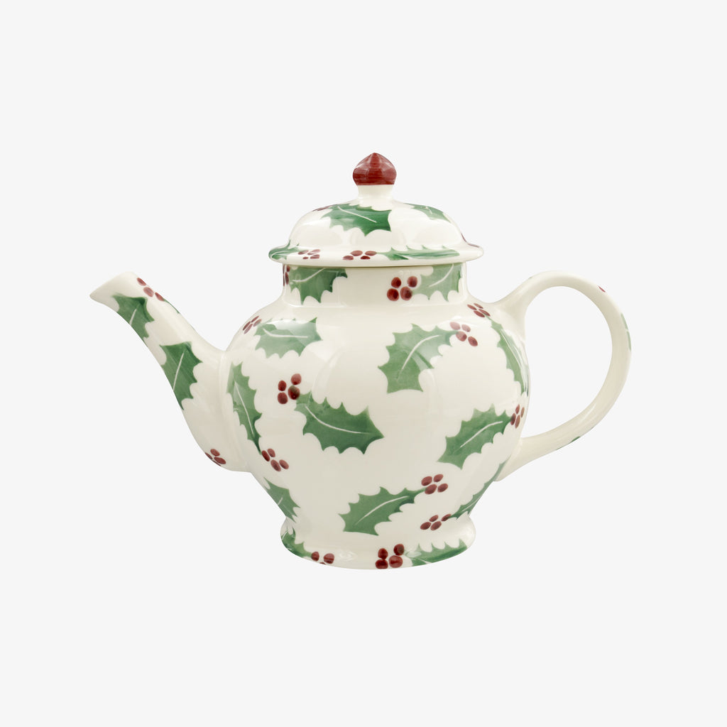 Seconds Christmas Holly 3 Mug Teapot