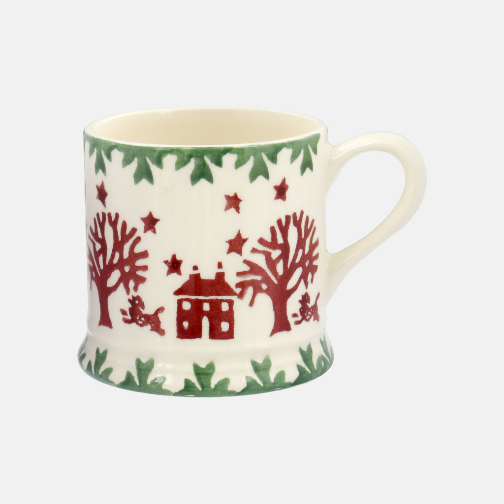 Seconds Christmas Joy Green Border Mini Mug