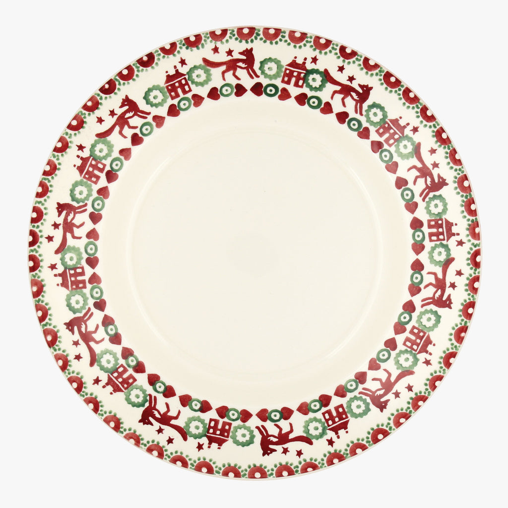"Christmas Joy Red & Green 10 1/2"" plate"