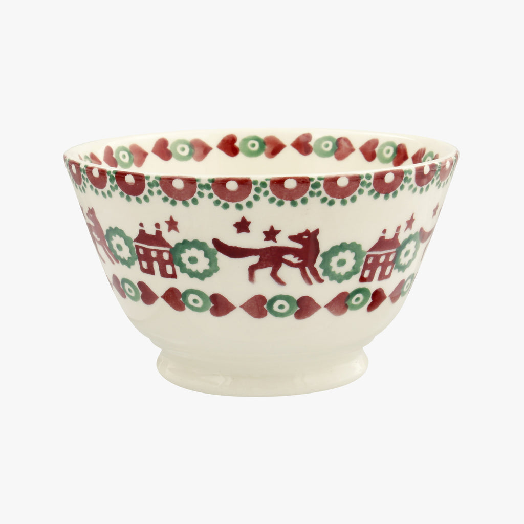 Christmas Joy Red & Green Old Bowl