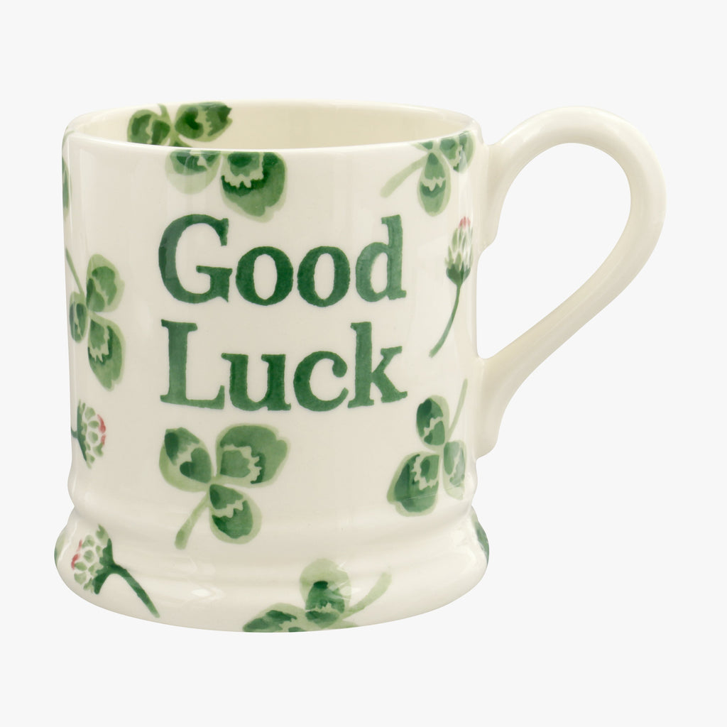 Clover Flower Good Luck 1/2 Pint Mug