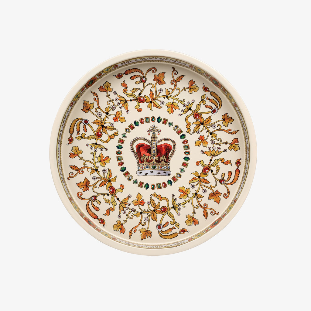 The Crown Jewels Round Tin Tray