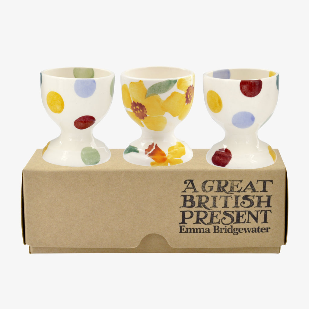 Daffodils Set of 3 Egg Cups Boxed