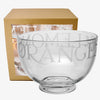 Black Toast Glass Large Bowl Boxed