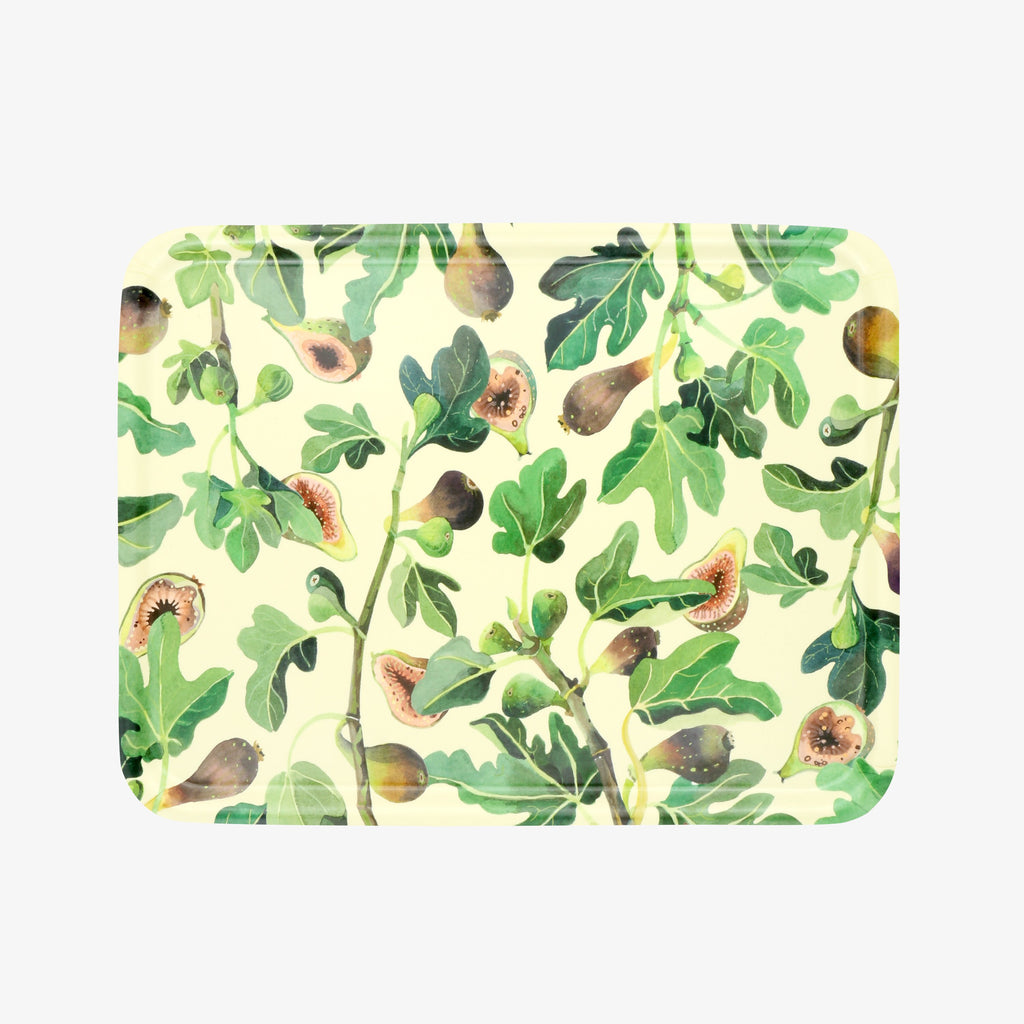 Vegetable Garden Figs Rectangular Wooden Tray