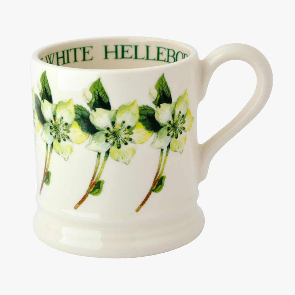 Seconds White Hellebore 1/2 Pint Mug