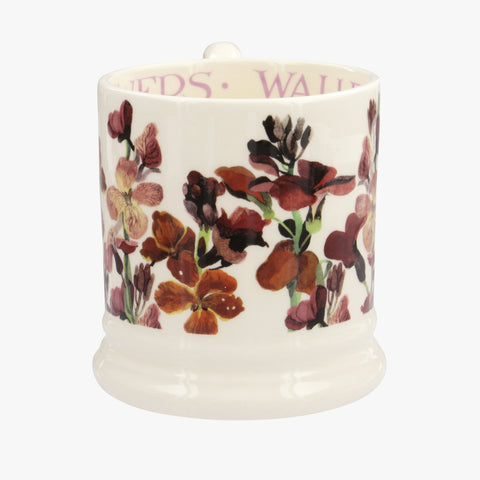 Red Wallflowers 1/2 Pint Mug