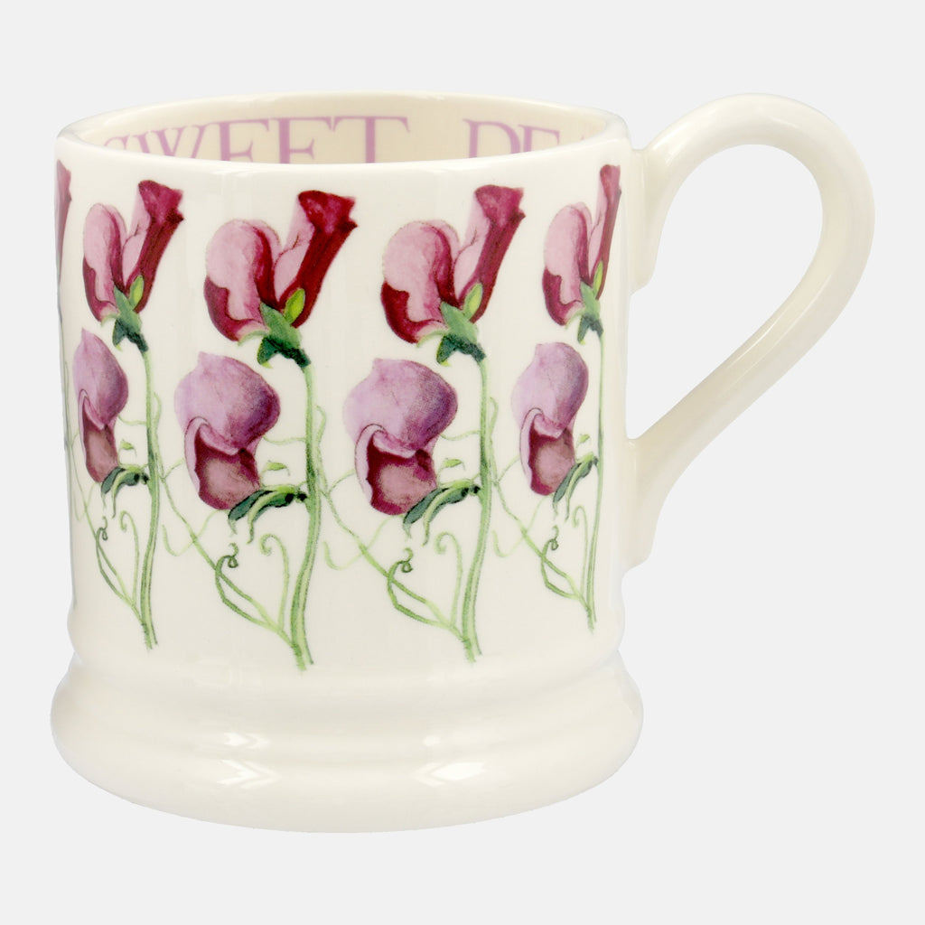 Sweet Pea Plum 1/2 Pint Mug