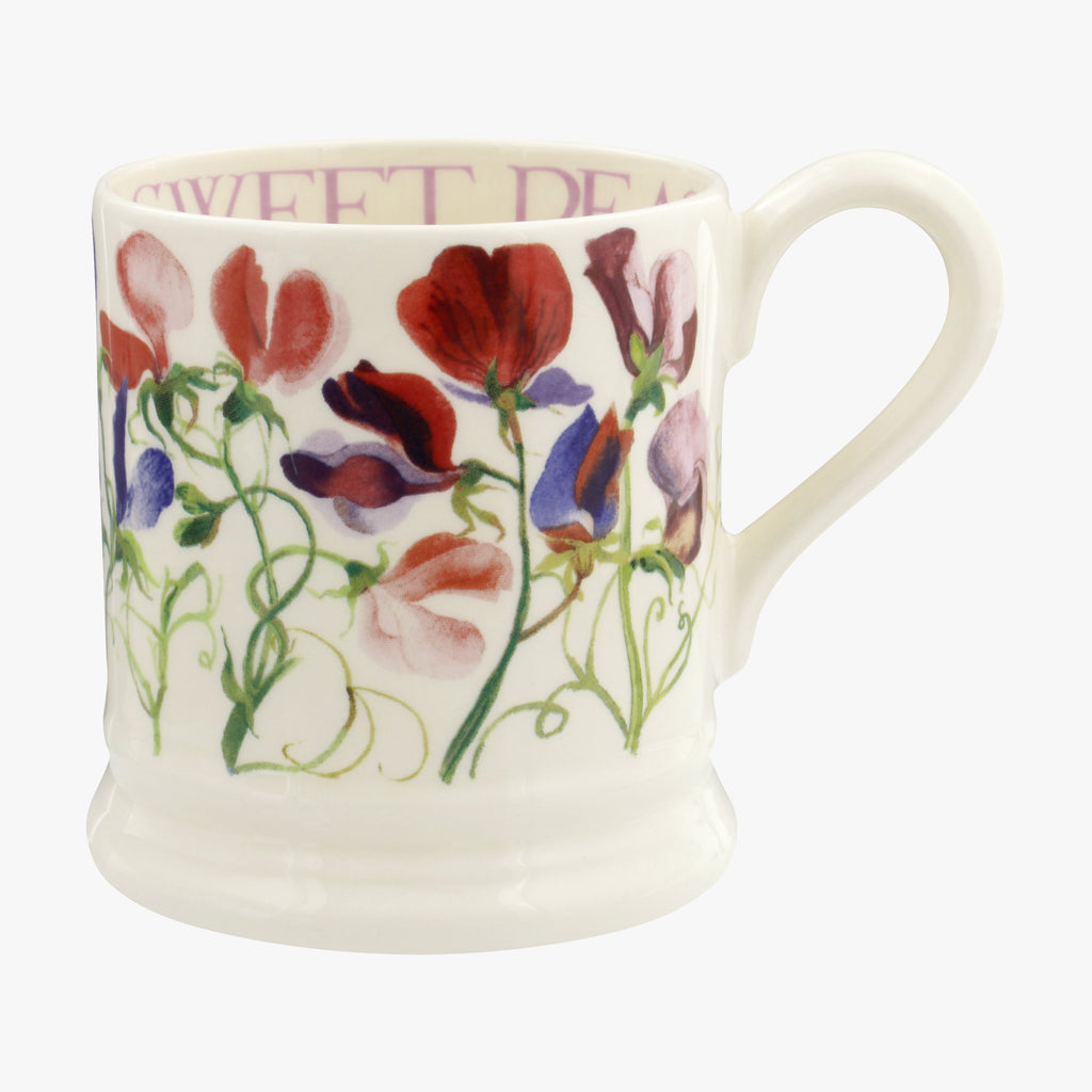 Flowers Sweet Pea Multi 1/2 Pint Mug