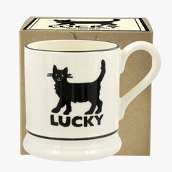 Lucky Black Cat 1/2 Pint Mug Boxed