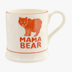 Mama Bear Red 1/2 Pint Mug