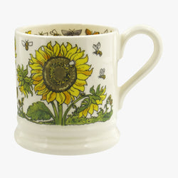 Sunflowers and Bees 1/2 Pint Mug