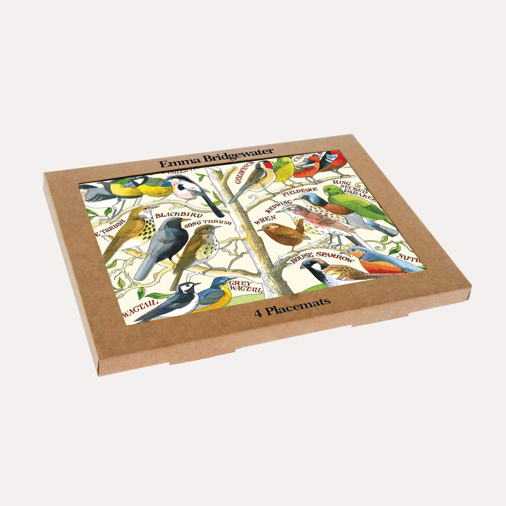 Garden Birds Set of 4 Melamine Placemats