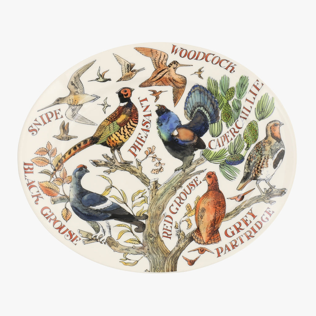 Game Birds Medium Oval Platter