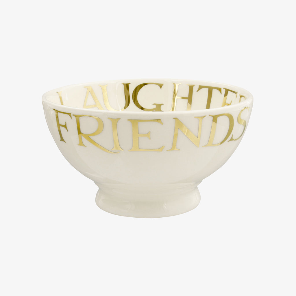 Gold Toast French Bowl