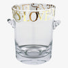 Gold Toast Glass Ice Bucket
