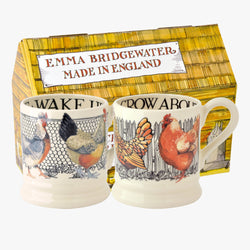 Hen & Toast Set of 2 1/2 Pint Mugs