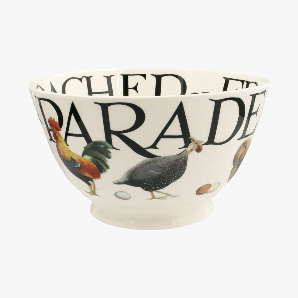 Rise & Shine Poultry On Parade Medium Old Bowl