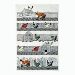Hen Run Tea Towel
