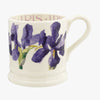 Seconds Flowers Blue Iris 1/2 Pint Mug