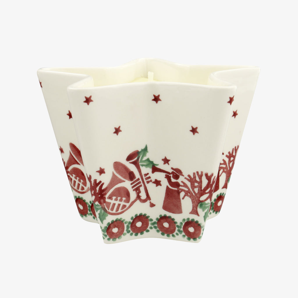Joy Trumpets Large Star Candle