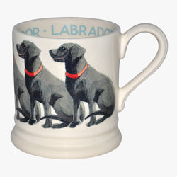 Seconds Black Labrador 1/2 Pint Mug