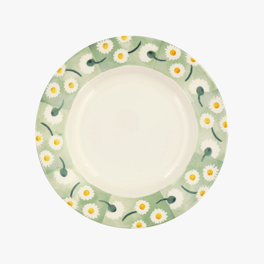 "Seconds Daisy Light Green  8 1/2"" Plate"