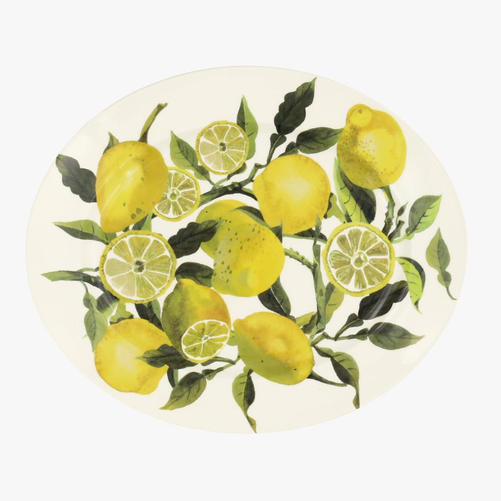 Vegetable Garden Lemons Medium Oval Platter
