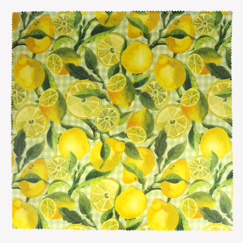 Vegetable Garden Lemons Extra Large Single Beeswax Wrap