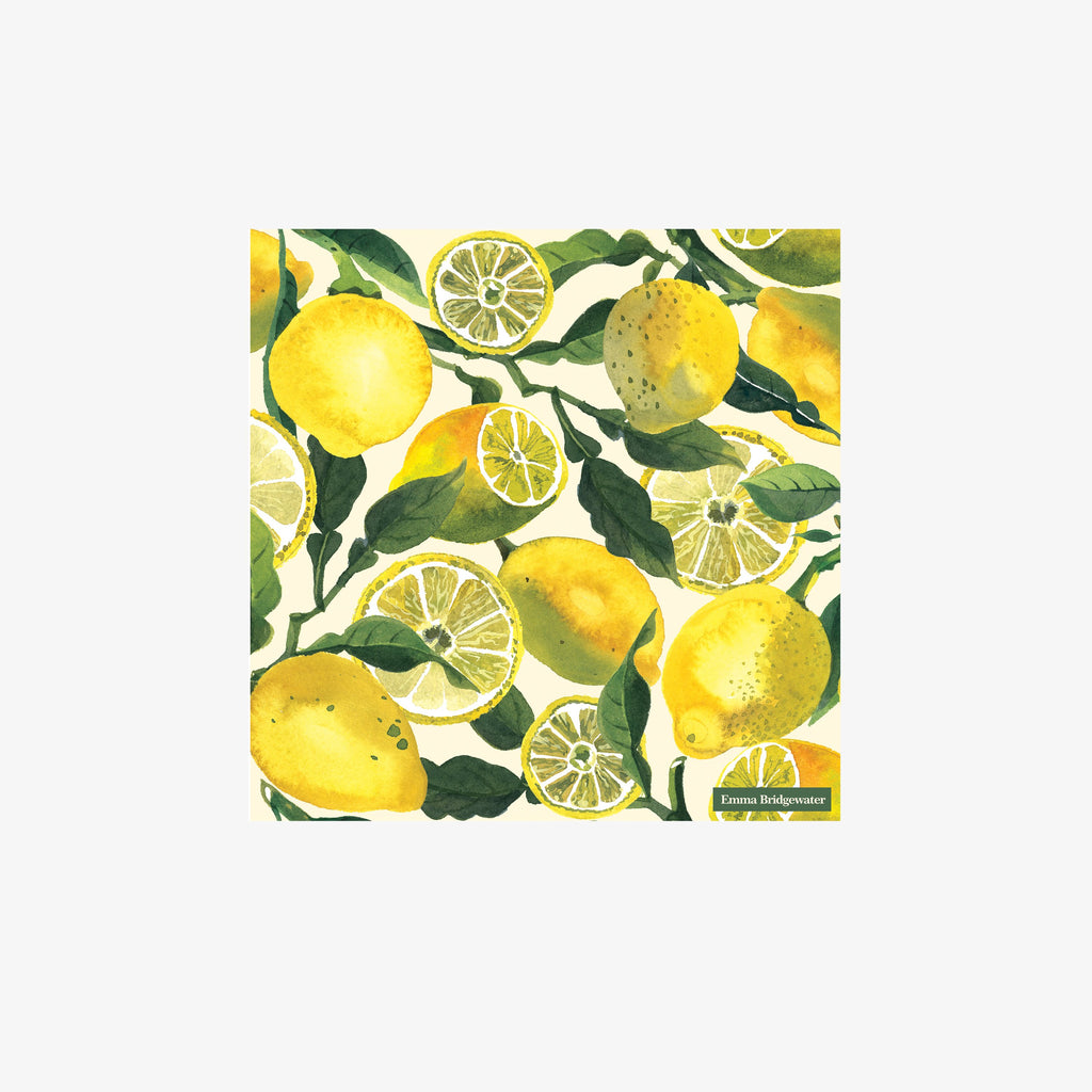 Vegetable Garden Lemons Cocktail Napkins