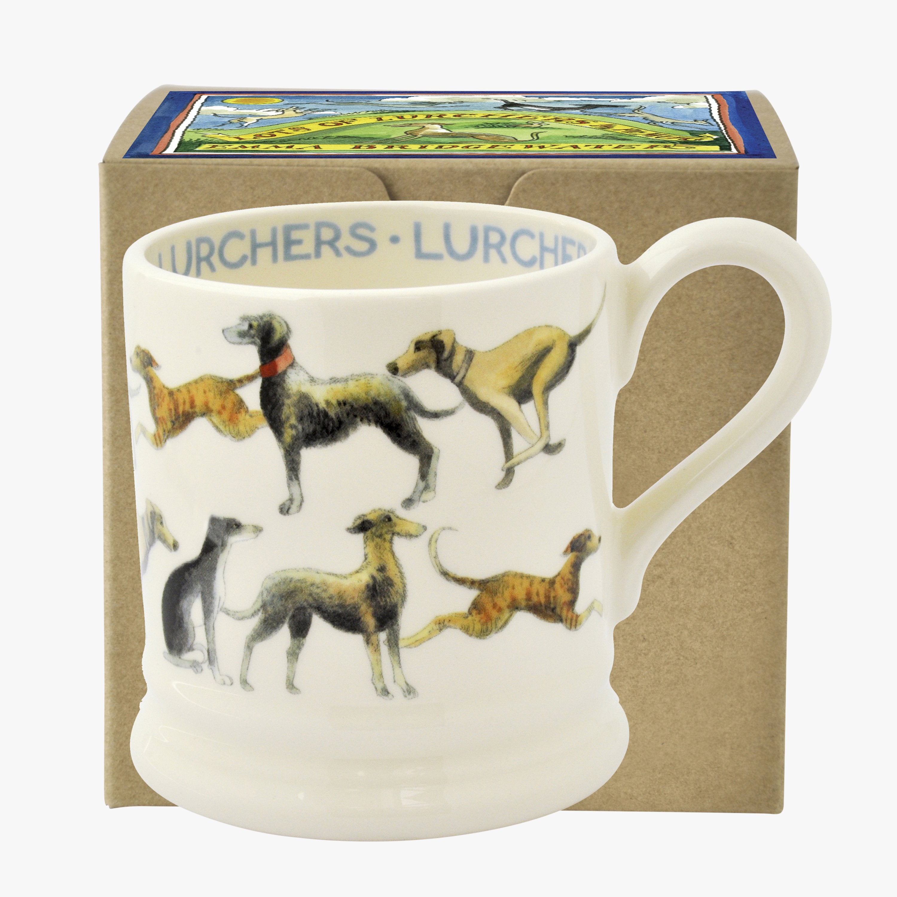 Image of All Over Lurcher 1/2 Pint Mug Boxed