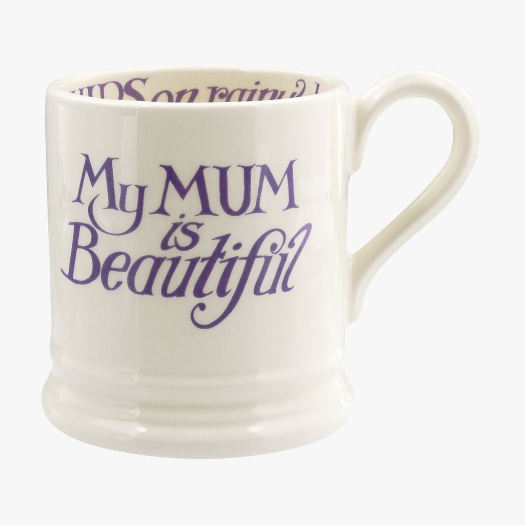 Seconds Love& Wild Flws Mum is Beautiful 1/2 Pint Mug