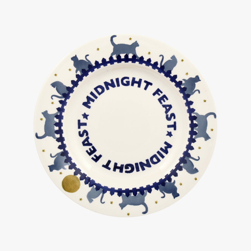 Midnight Cats Midnight Feast 8 1/2 Inch Plate