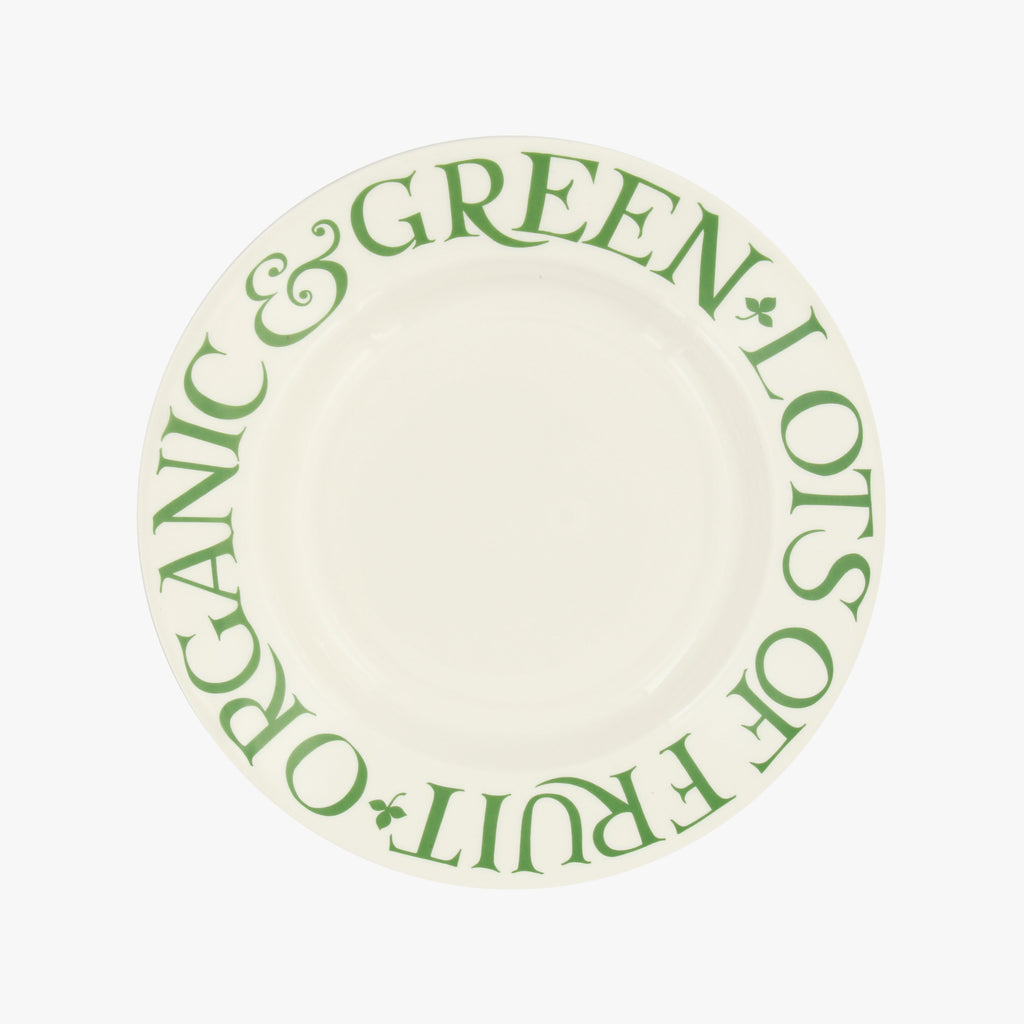 Seconds Organic & Green Lots Of Fruit 8 1/2 Inch Plate