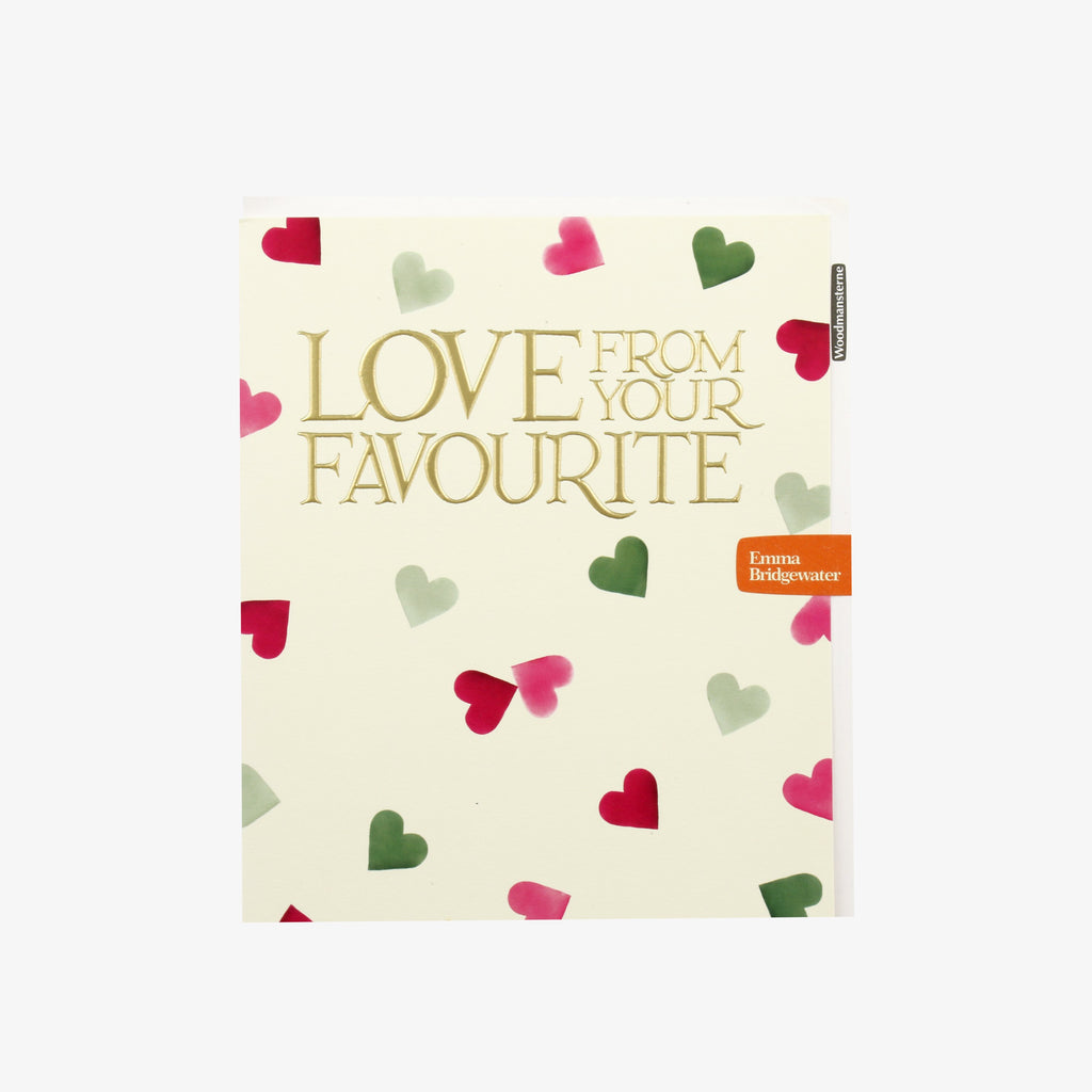 Love From Your Favourite Pink & Green Hearts Card